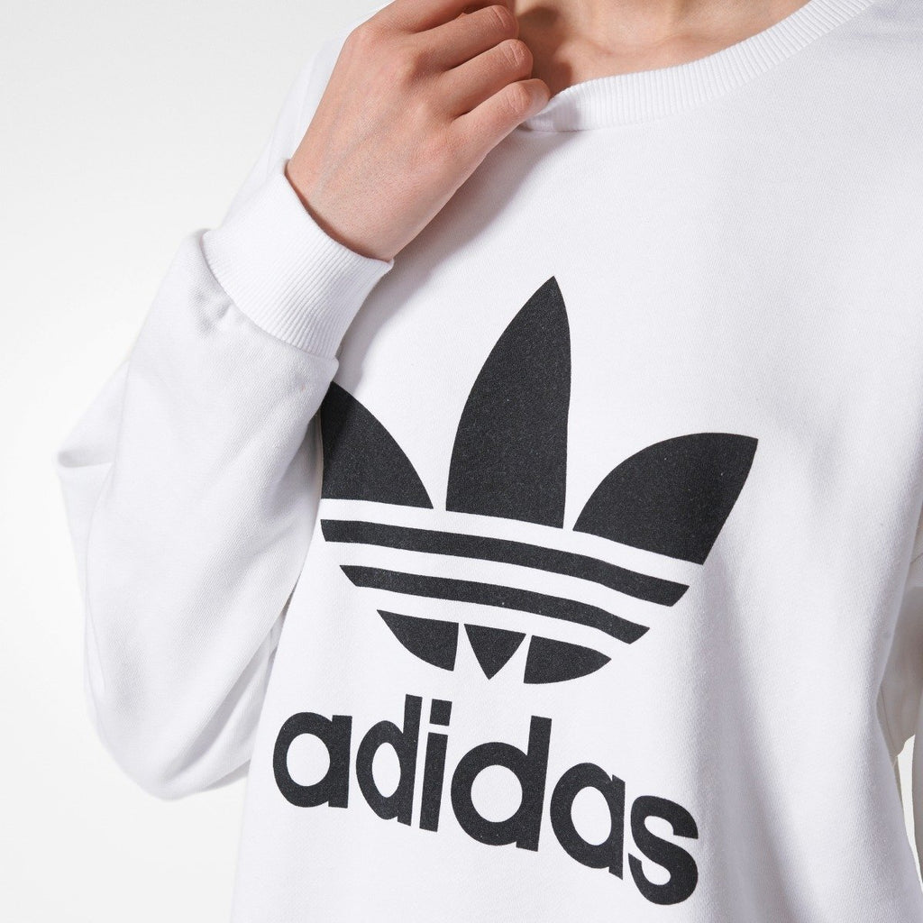 Women's Adidas Originals Trefoil Sweatshirt White