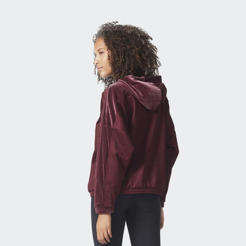 adidas Originals Velvet Vibes Oversized Hooded Track Top