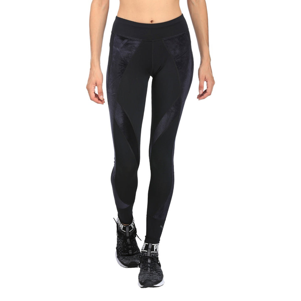 8e6aac3d8190d1 Women's PUMA Active Training Explosive Velvet Leggings Black