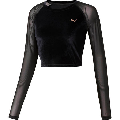 Women's PUMA Explosive Velvet Crop Top Black