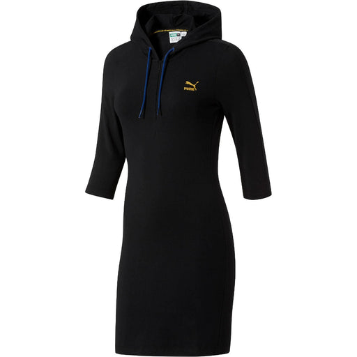 Women's PUMA T7 Hoodie Dress Black