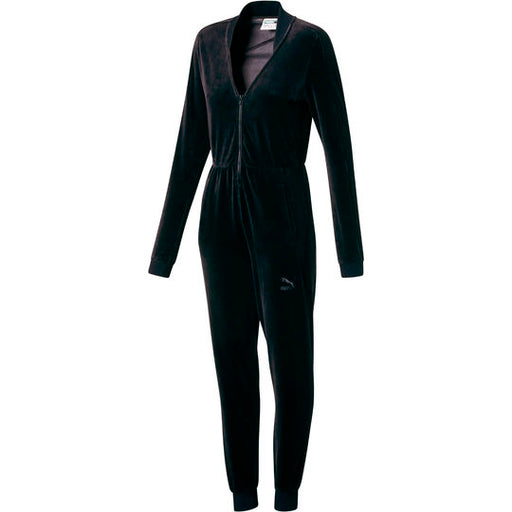 Women's PUMA Velour T7 Jumpsuit Black