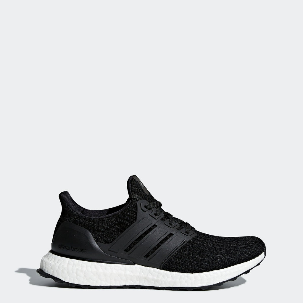 Women's adidas Running Ultraboost Shoes Black with White BB6149 | Chicago City Sports | side view