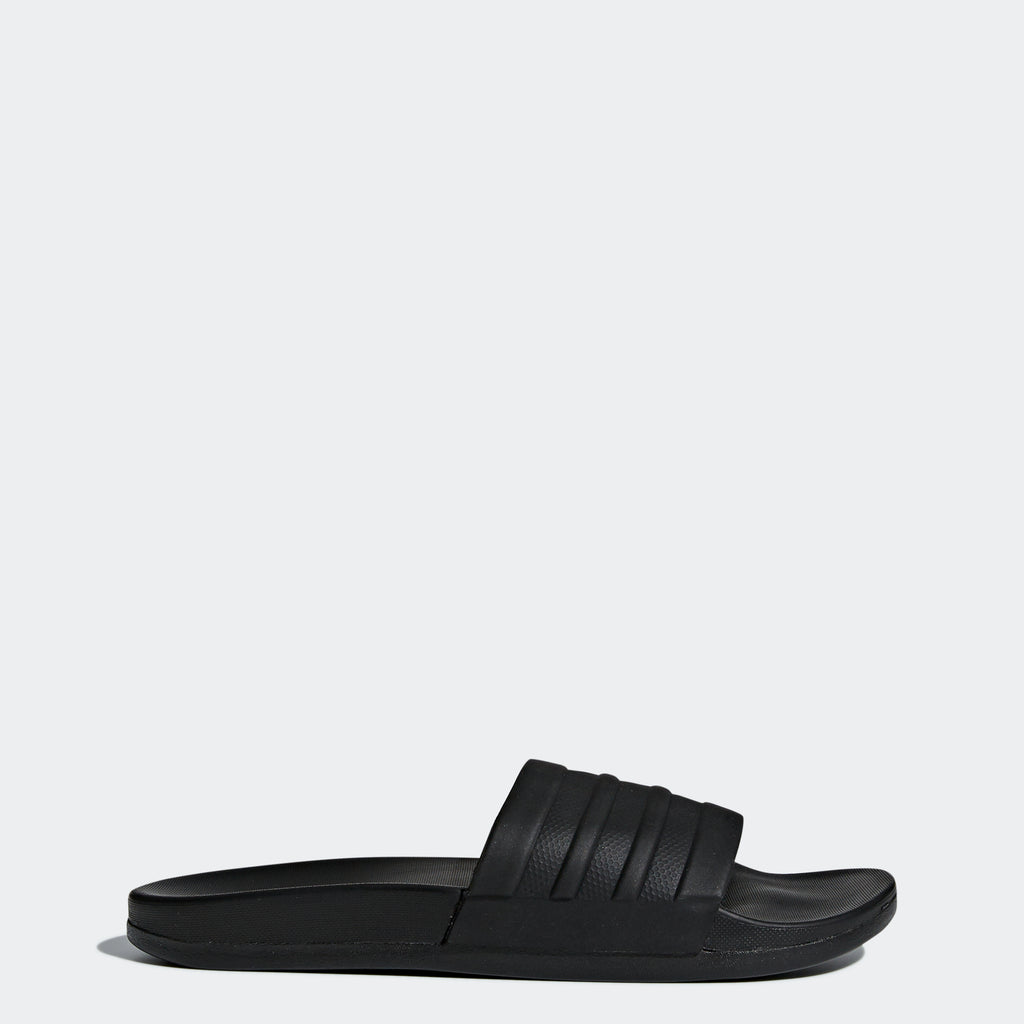 Women's adidas Adilette Comfort Slides Black (SKU BB1095) | Chicago City Sports | side view
