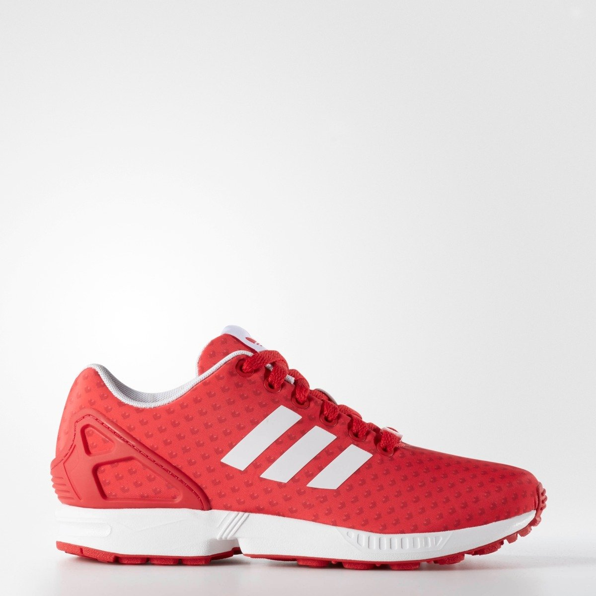 Womne s Adidas Originals ZX Flux Red With Heart Print B27464 ... 681bf025b2