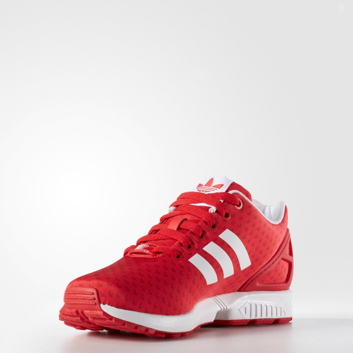 pretty nice a9e9b 646ef Women's Adidas Originals ZX Flux Red with Heart Print - 5 / RED