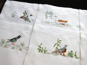 Graceful Birds Madeira Embroidery 16pc Placemat Set - Setting for 8