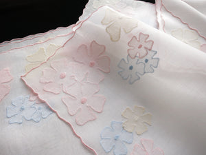 """Wild Rose"" Vintage Marghab Madeira Embroidery Placemat Set - Setting for 6"