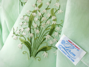 "Lily of the Valley French Tablecloth 8 Napkins, for 72"" Round Table"