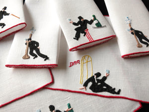 Too Much Fun Vintage Madeira Cocktail Napkins - Set of 8
