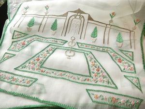 Formal Gardens Fountains Vintage Italian Placemat Set - Setting for 8
