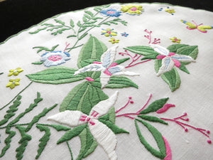 Fantasy Flowers Butterflies Madeira Embroidery Placemat Set - Setting for 4