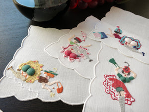 Pretty Ladies Reveal Assets Vintage Madeira Naughty Cocktail Napkins - Set of 8