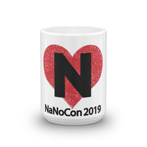 NaNoCon Heart Mug (11 & 15 oz)