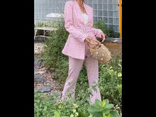 Load and play video in Gallery viewer, Elvah Blush Pink Checkered Pantsuits