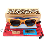 BOBO BIRD AG012 - Vintage Bamboo Wood Sunglasses