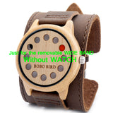 Removable Wide Band Leather Strap for Bamboo Wood Watches - Wooodster - Wooden Watches, Sunglasses & Accessories