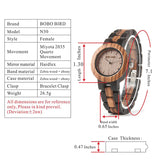 BOBO BIRD N30/N28 - Two Tone Luxury Bamboo Wood Couples Watches