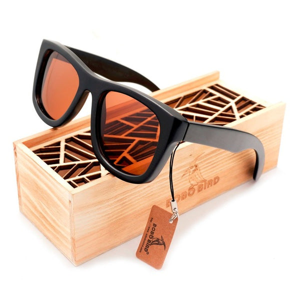 BOBO BIRD Rectangle Wooden Sunglasses - Wooodster - Wooden Watches, Sunglasses & Accessories