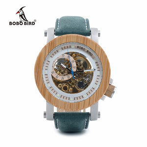 BOBO BIRD C-K13 - Mens Bamboo Mechanical Watch, with Automatic Self-Wind Movement
