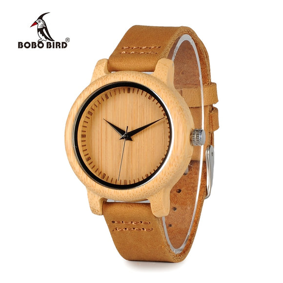 BOBO BIRD WA10 - Handmade Bamboo Wood Watch for Ladies