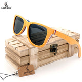 BOBO BIRD AG011 - Vintage Layerd Skateboard Wood Sunglasses