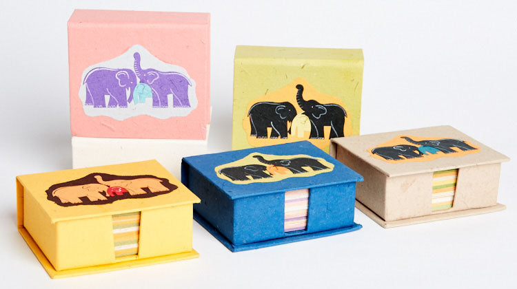 Elephant Dung Paper Cubes