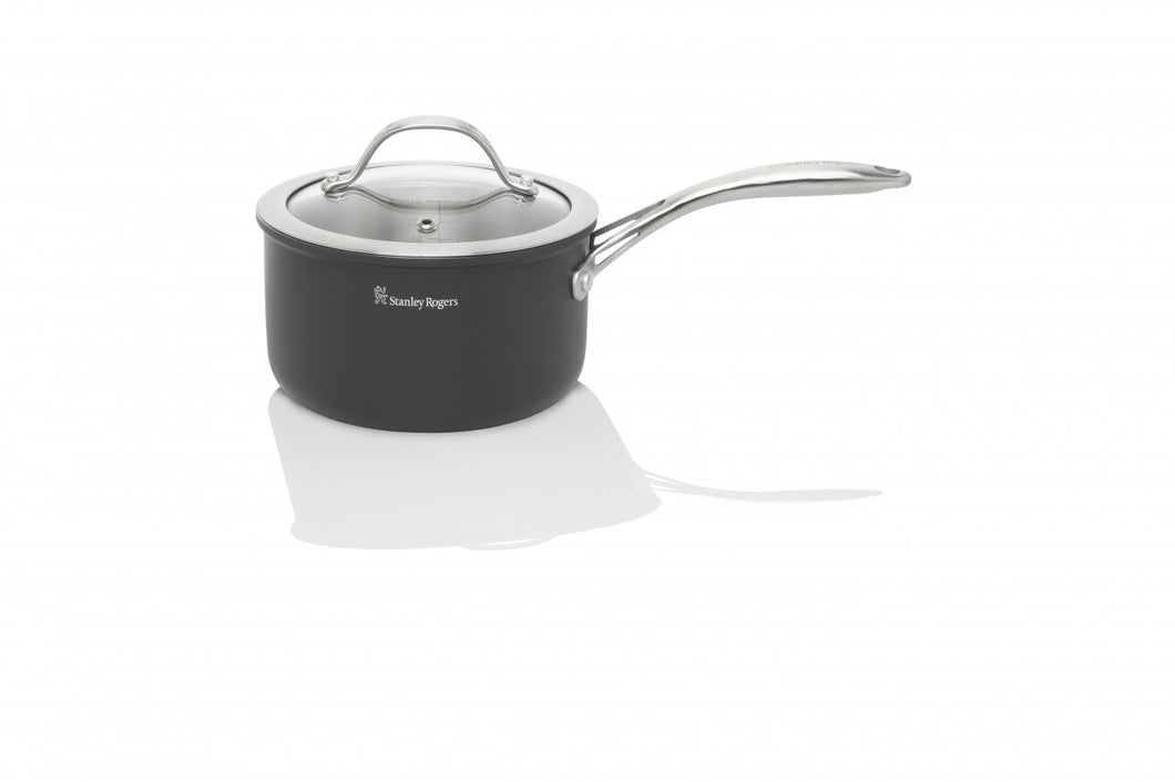 Stanley Rogers Bi-Ply  saucepan with glass lid