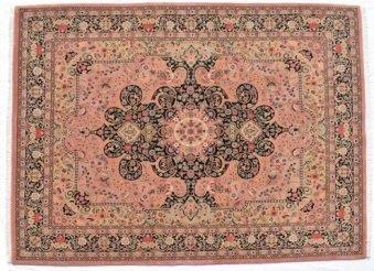 Certified organic Persian Style Hand-knotted Wool Rug 253x316cm