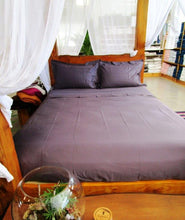 Load image into Gallery viewer, Simple Luxury Sheet Set in Aubergine