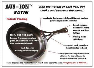 Aus-ion Satin by Solidteknics 35cm Dual Handle Wok