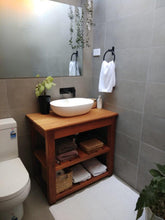 Load image into Gallery viewer, Bathroom Natural Timber Shelved Cabinet