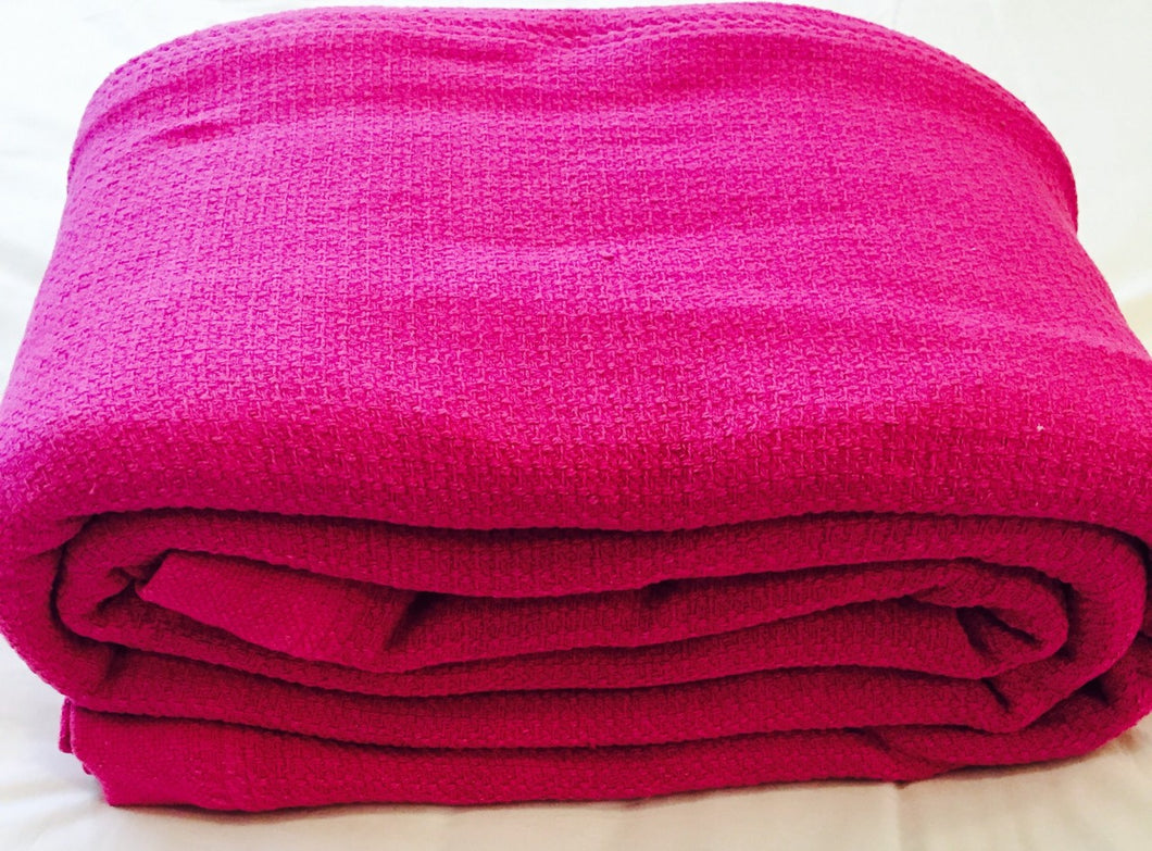 Cotton Blankets - Berry
