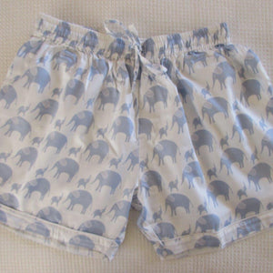 Ladies  Boxer Short - Sateen Elephant