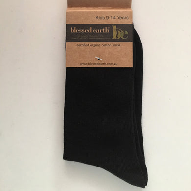 Childrens Organic Cotton Socks - Black