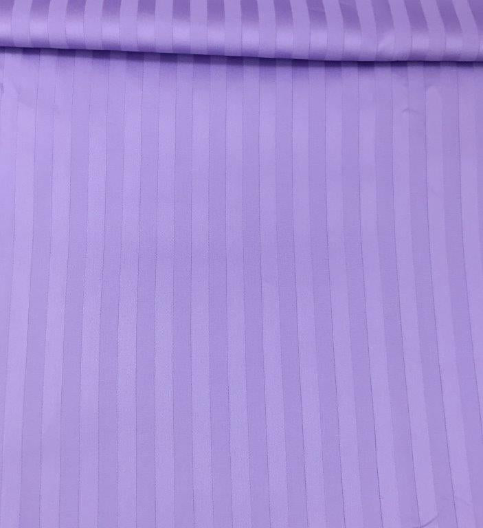 Sateen Stripe Sheet Set in Lavender