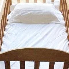 Hotel White Cot Sheet Set