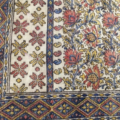Antique Print Organic Cotton Flatweave