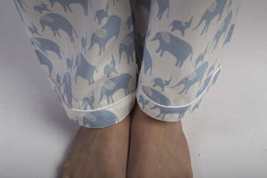 Ladies  Pyjamas Pants in Simple luxury Elephants