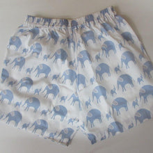 Load image into Gallery viewer, Childrens Short - in blue Elephants