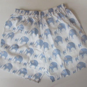 Childrens Short - in blue Elephants