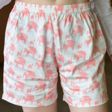 Childrens Short - in pink Elephants
