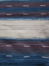 Load image into Gallery viewer, Large Blue Mauve and Natural Organic Wool Flatweave Rug 274 x 365cm