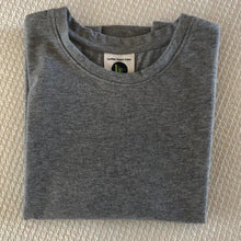Load image into Gallery viewer, Childrens Long Sleeve  Jersey Crews - Grey Melange