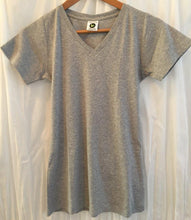 Load image into Gallery viewer, Ladies Short Sleeve Vee - Grey Melange