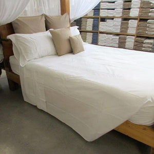 Fitted Sheet in Natural Percale