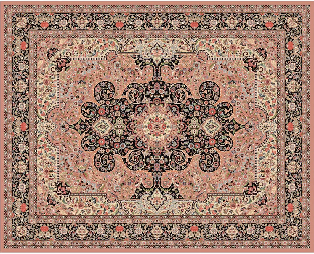 Certified organic Persian Style Hand-knotted Wool Rug 241x301cm