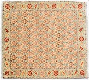 "Hand-knotted Persian Wool Carpet, ""Kirman"" style, 252 x 323cm"