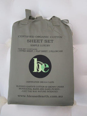 Soft Percale Sheet Set in Laurel Oak