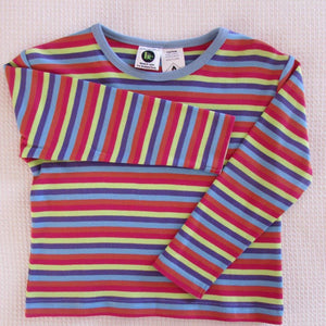 Childrens Long Sleeve Striped Crew